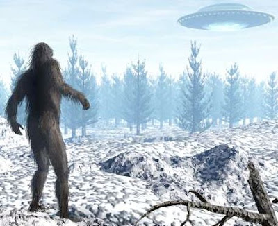 Image result for big foot and ufo